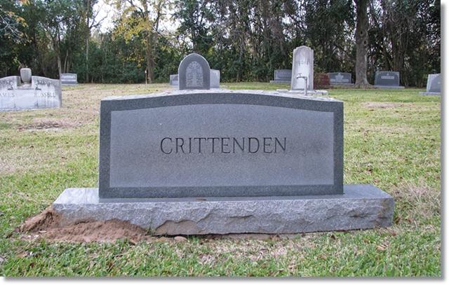 Crittenden Family Monument - Forest Park Lawndale - Houstonn