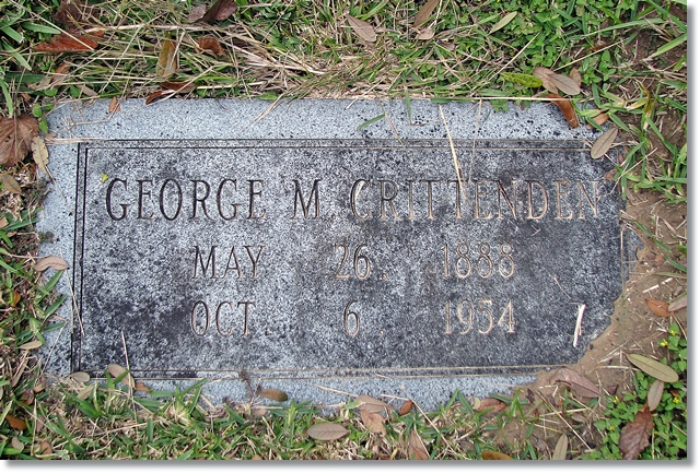 George M. Crittenden: 1888 - 1954