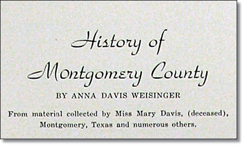 History of Montgomery County
