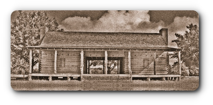 Artist Rendition of W. W. Shepperd's Trading Post - Texas Style Dogtrot House