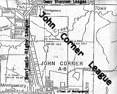 Northwestern - Most Corner of the John Corner League and Town Creek