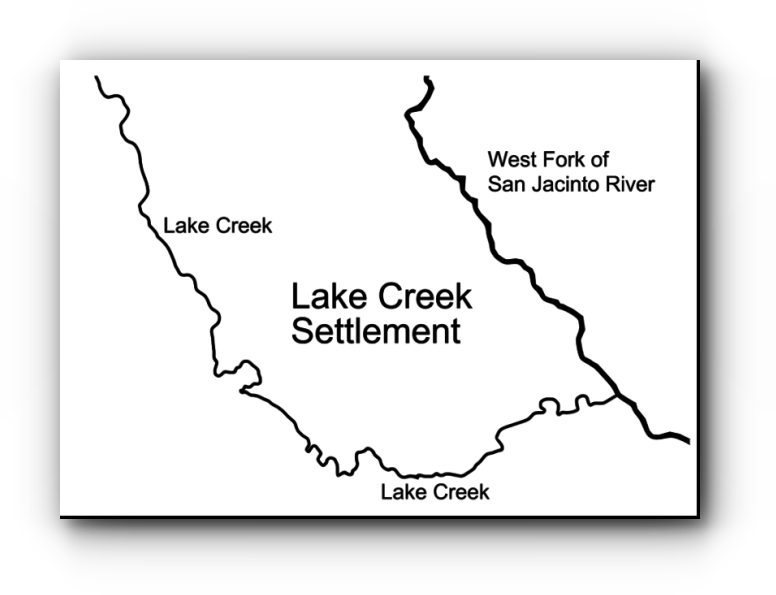 Map of the Lake Creek Settlement