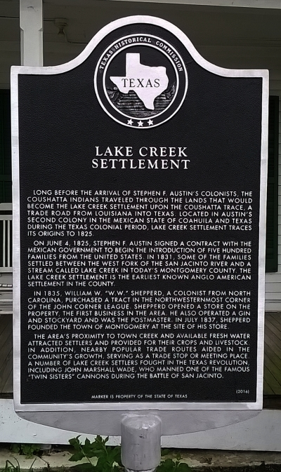 Click for Lake Creek Settlement Article on Wikipedia