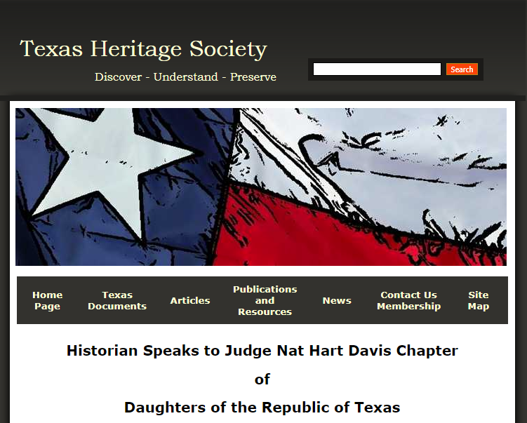Kameron Searle Speaks to Nat Hart Davis Chapter of the Daughters of the Republic of Texas