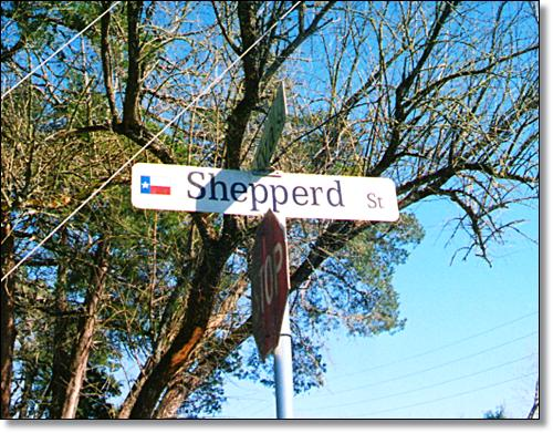 Shepperd Street in Montgomery, Texas