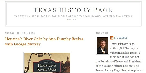 Texas History Page Blogspot