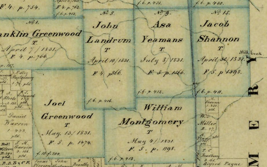 Click Here To See 1858 Grimes County Map in Texas General Land Office