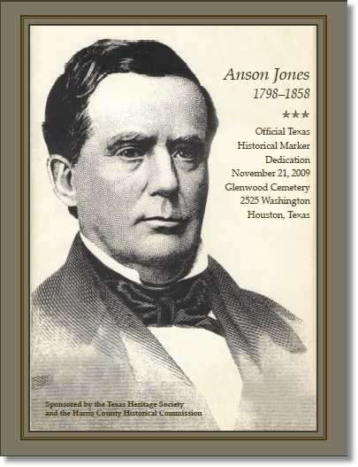 Click to Read the 12 Page Anson Jones Marker Dedication Program