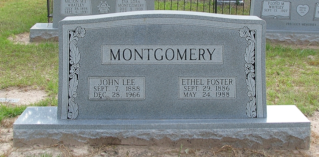 Gravesite of John Lee Montgomery