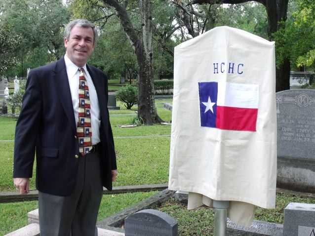 Texas Heritage Society President Kameron Searle Prior to Unveiling of Anson Jones Marker