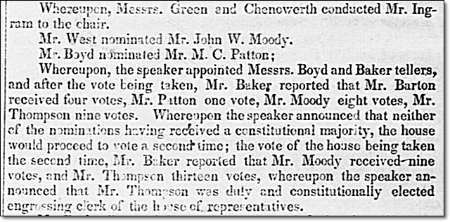 John W. Moody Nominated for Engrossing Clerk