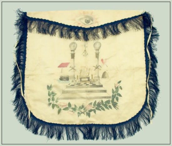 Early Texas Masonic Apron Belonging to Caleb Lynn Spencer Who Came to Texas in 1857 - Star of the Republic Museum