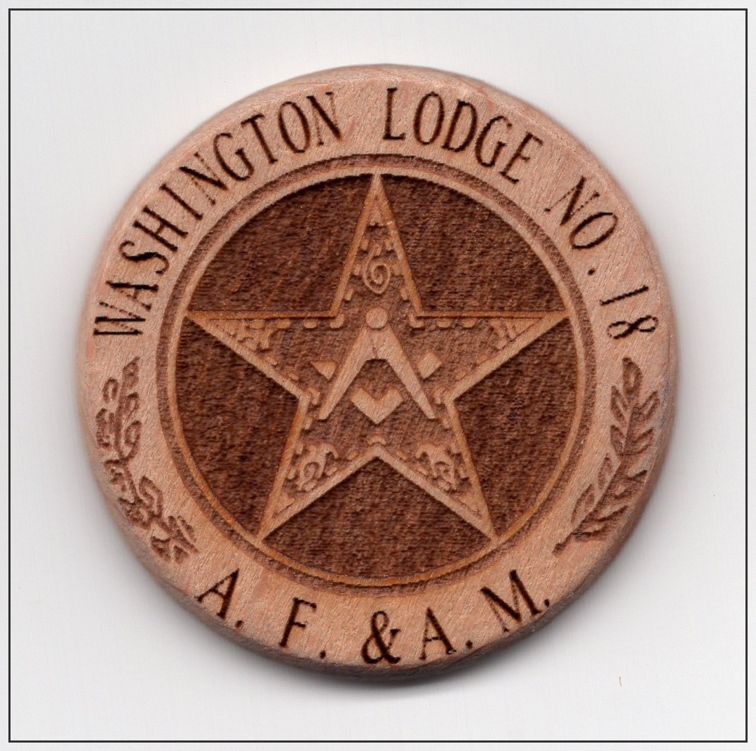 2020 Washington Lodge Presentation Coin Obverse