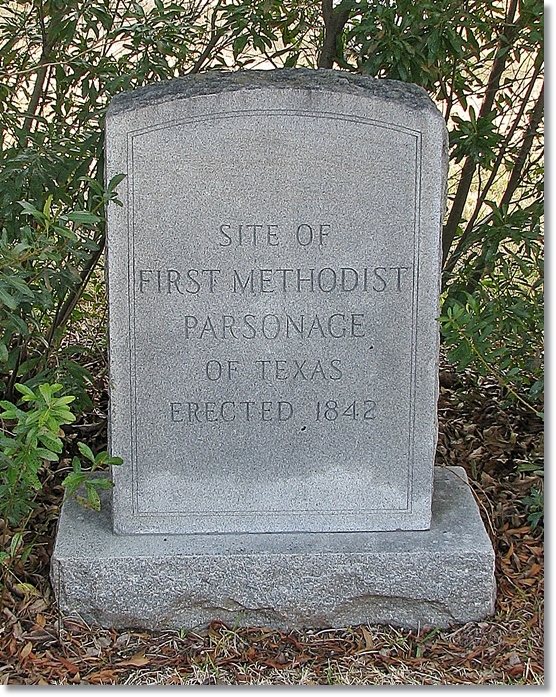 Methodist Parsonage Marker - Montgomery Texas