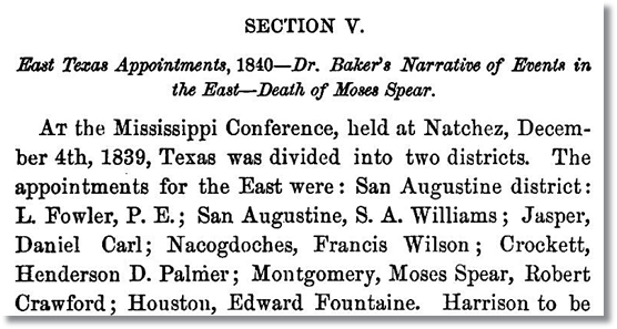 Preacher Appointments for 1840